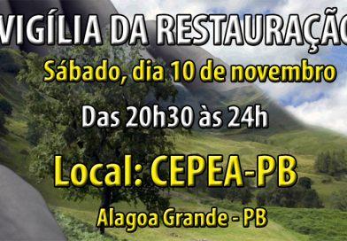 CEPEA realiza vigília neste sábado, dia 10 de novembro